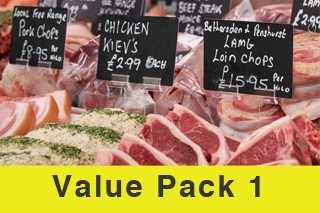 Value Meat Pack 1. Normally £121! Now just £85!